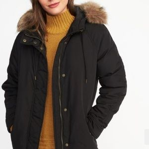 Hooded Frost Free Parka Jacket Coat with Fur Hood